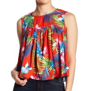 NEW Romeo & Juliet Couture Palms Babydoll Tank S